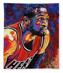 Dwyane Wade 3 Fleece Blanket