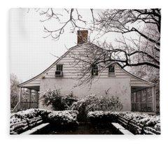 Dyckman Farmhouse In Winter Fleece Blanket