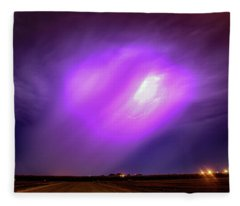 Dying Late Night Supercell 016 Fleece Blanket