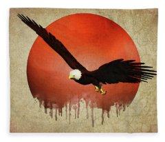 Eagle Flying Fleece Blanket