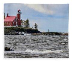 Eagle Harbor Lighthouse Fleece Blanket