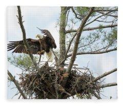 Eagle Landing Fleece Blanket