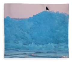 Eagle On Ice Mackinaw City 2261803 Fleece Blanket