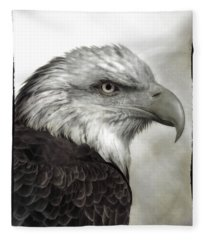 Eagle Protrait Fleece Blanket