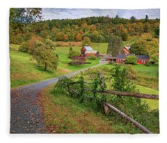 Early Fall At Sleepy Hollow Farm Fleece Blanket