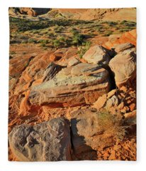 Early Morning At Valley Of Fire Fleece Blanket