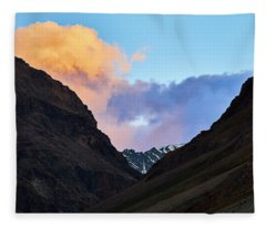 Fleece Blanket featuring the photograph Early Morning Clouds In Sarchu by Whitney Goodey