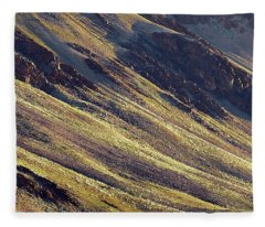 Fleece Blanket featuring the photograph Early Morning Light On The Hillside In Sarchu by Whitney Goodey