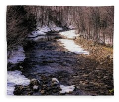 Early Spring In Southern Vermont Fleece Blanket