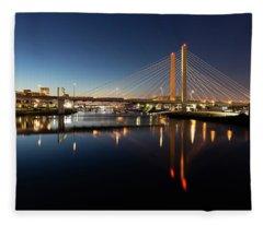 East 21st Street Bridge Fleece Blanket