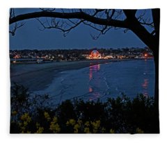 Easton's Beach At Nightfall Fleece Blanket