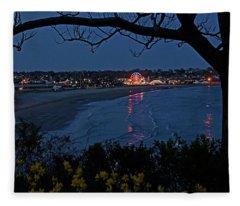 Easton's Beach At Nightfall Fleece Blanket