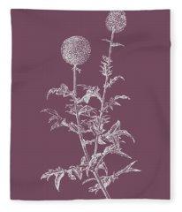 Echinopos Purple Flower Fleece Blanket