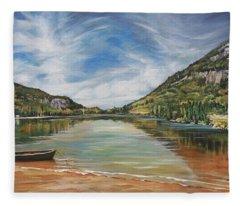 Echo Lake In Franconia Notch New Hampshire Fleece Blanket