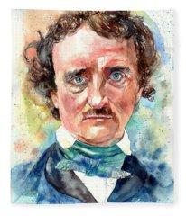 Edgar Allan Poe Fleece Blankets