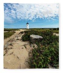 Edgartown Lighthouse Marthas Vineyard Fleece Blanket
