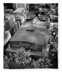 Edith Piaf Grave  Fleece Blanket