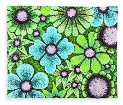 Efflorescent 9 Fleece Blanket