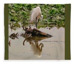 Egret 4 Fleece Blanket