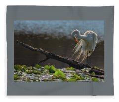 Egret 5 Fleece Blanket
