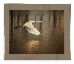Egret 6 Fleece Blanket