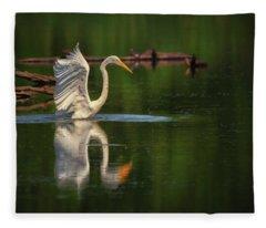 Egret 7 Fleece Blanket