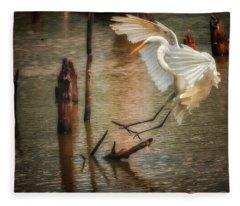 Egret 8 Fleece Blanket