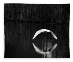 Egret Aureole Fleece Blanket