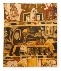 Egyptian Wall Art Fleece Blanket