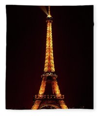 Eiffel Tower, Night Fleece Blanket