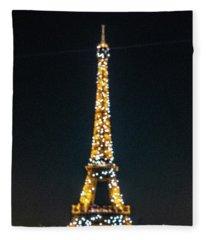 Fleece Blanket featuring the photograph Eiffel Tower by Randy Scherkenbach