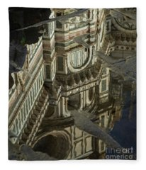 el Duomo The Florence Italy Cathedral Reflections Fleece Blanket
