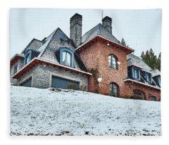 El Messidor Residence In The Argentine Patagonia Fleece Blanket