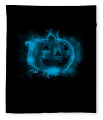 Electric Pumpkin Fleece Blanket
