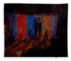 Electric Washline Fleece Blanket