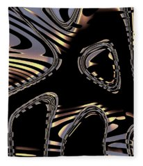 Elegant Black Fractal 2 Fleece Blanket