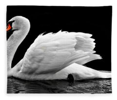 Elegant Swan Fleece Blanket