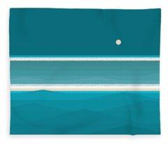 Elements - Aqua Water Fleece Blanket