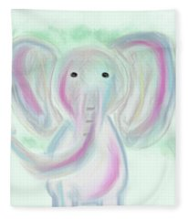 Elephant Love Fleece Blanket