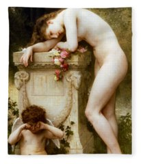 Ellergy 1899 William Bouguereau Fleece Blanket