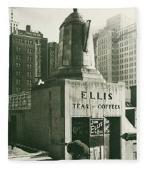 Ellis Tea And Coffee Store, 1945 Fleece Blanket
