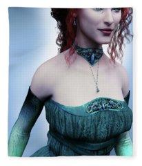 Elven Princess Portrait Fleece Blanket