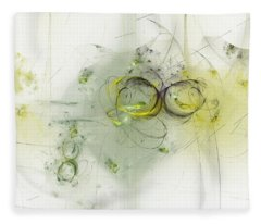 Fleece Blanket featuring the digital art Emery Down by Jeff Iverson