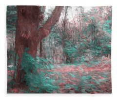 Emmaus Community Park Trail With Large Tree Fleece Blanket