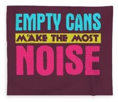 Empty Cans Fleece Blanket