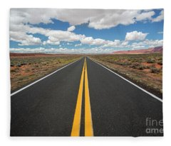 Empty Highway Fleece Blanket