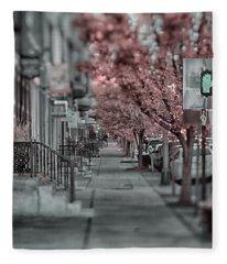 Empty Sidewalk Fleece Blanket