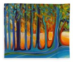 Enchanted Forest Fairy Tales Fleece Blanket