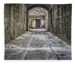 Fleece Blanket featuring the photograph End Of The Tracks by Steve Stanger