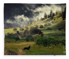 English Courtryside Fleece Blanket